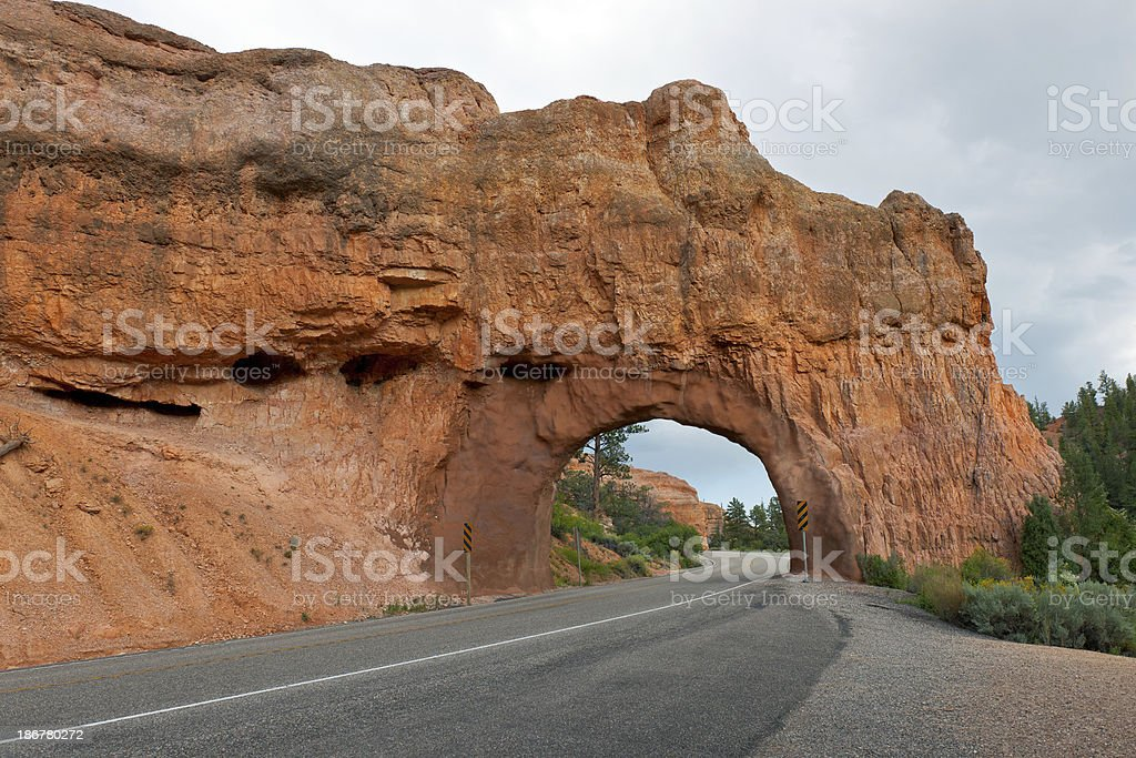 Red Canyon National Park Utah Road Tunnel royalty-free stock photo