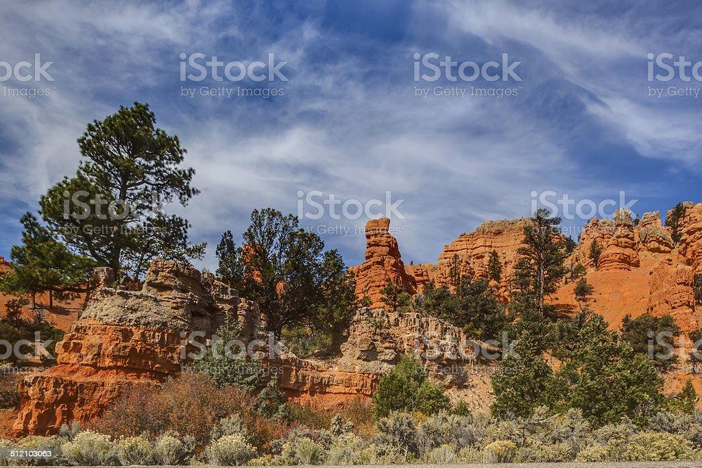 Red Canyon, utah stock photo