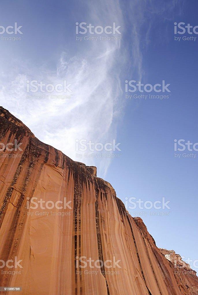 Red Canyon Wall royalty-free stock photo