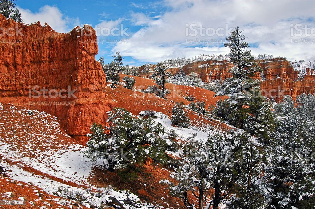 Red Canyon Winter stock photo