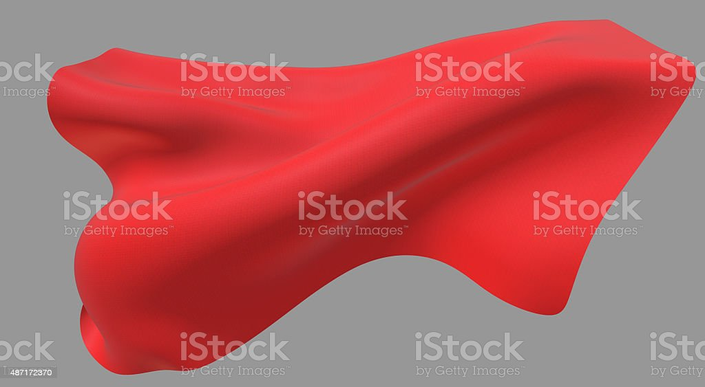 Red cape stock photo