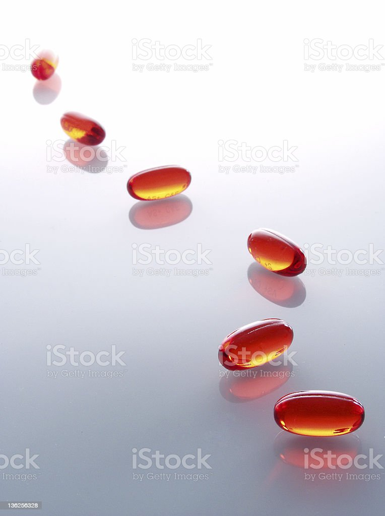 red capsules 3 royalty-free stock photo