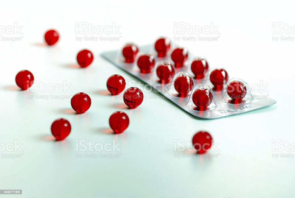 red capsules royalty-free stock photo