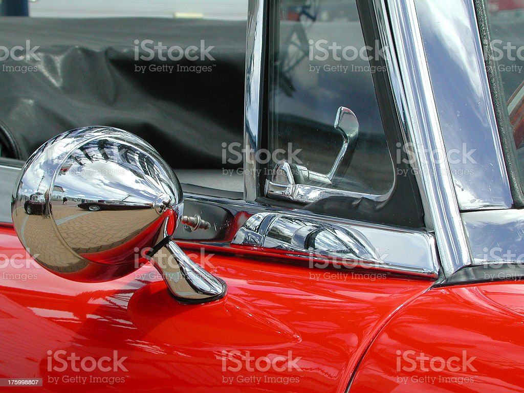 Red car detail royalty-free stock photo