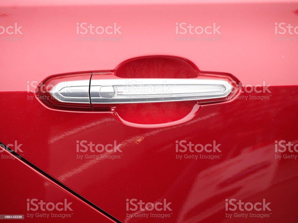 red car door stock photo