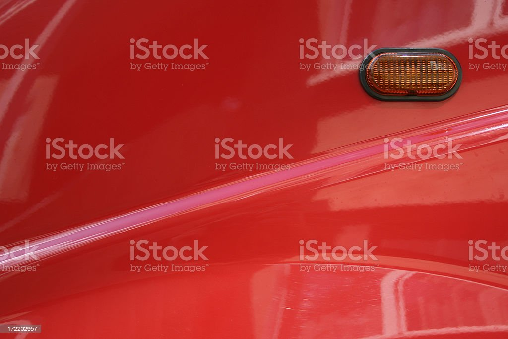 Red car element stock photo