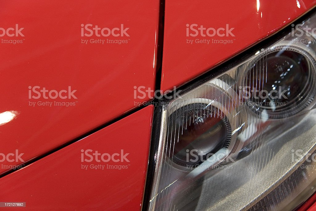 Red car headlight detail royalty-free stock photo