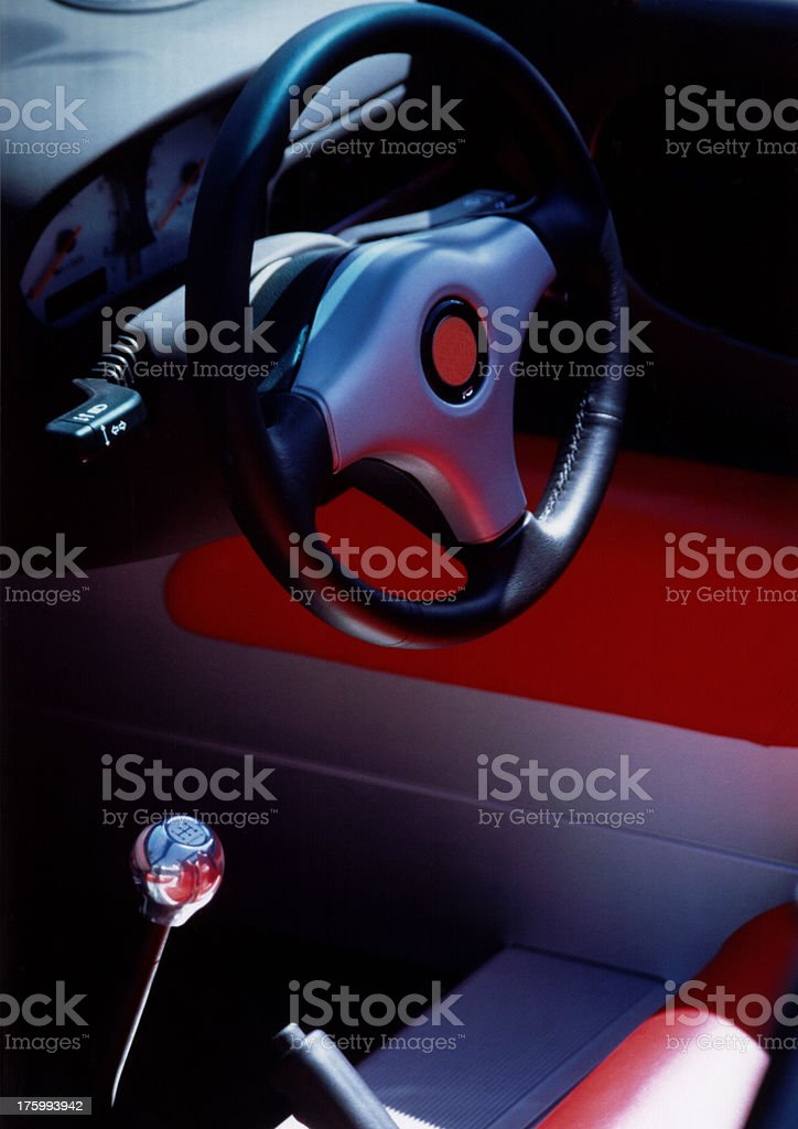 Red car interior royalty-free stock photo