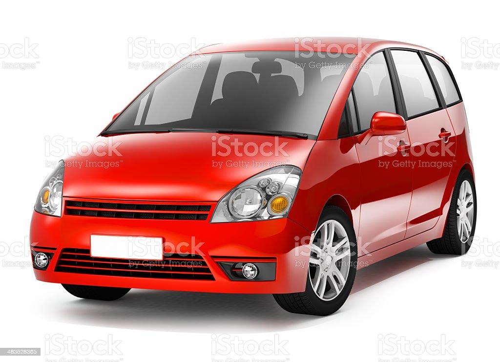 MPV Red Car royalty-free stock photo