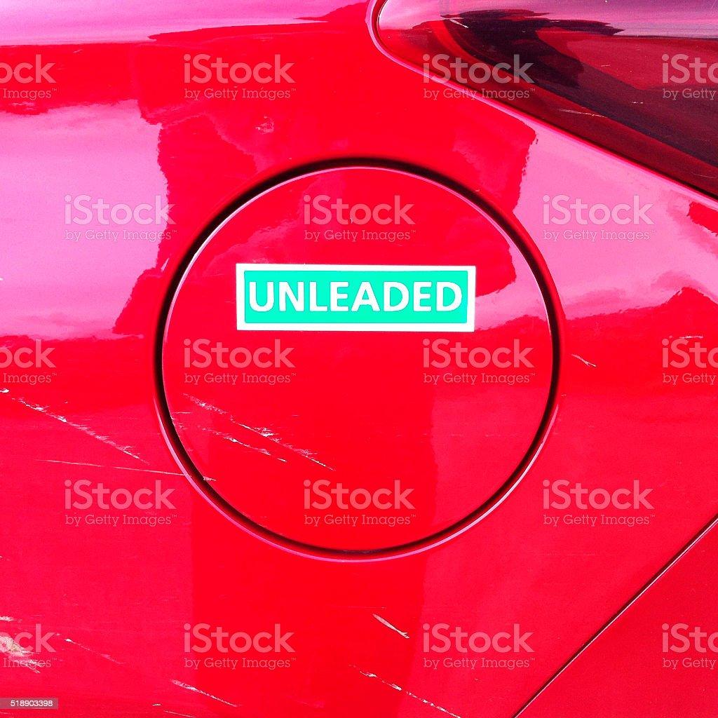 Red car tank stock photo