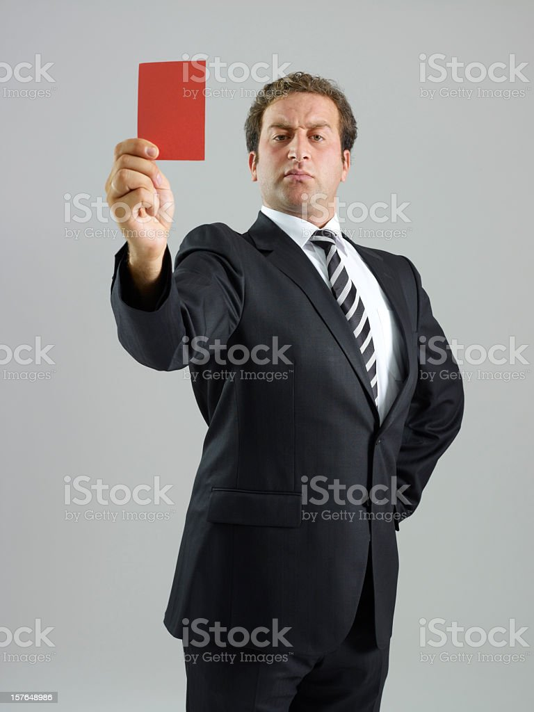 red card royalty-free stock photo