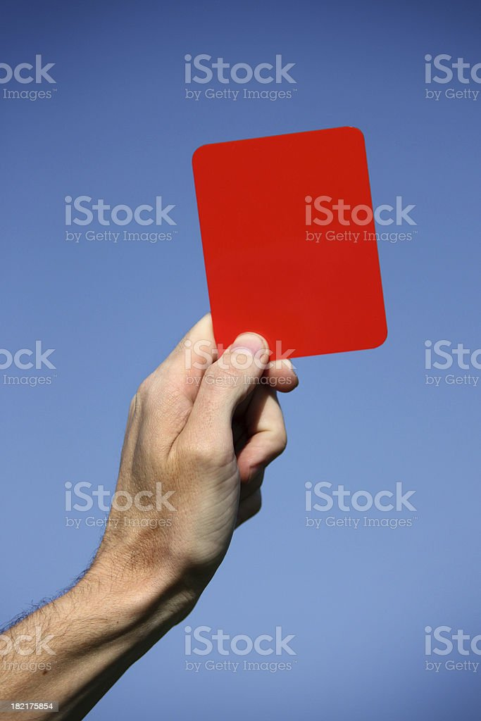 Red card stock photo