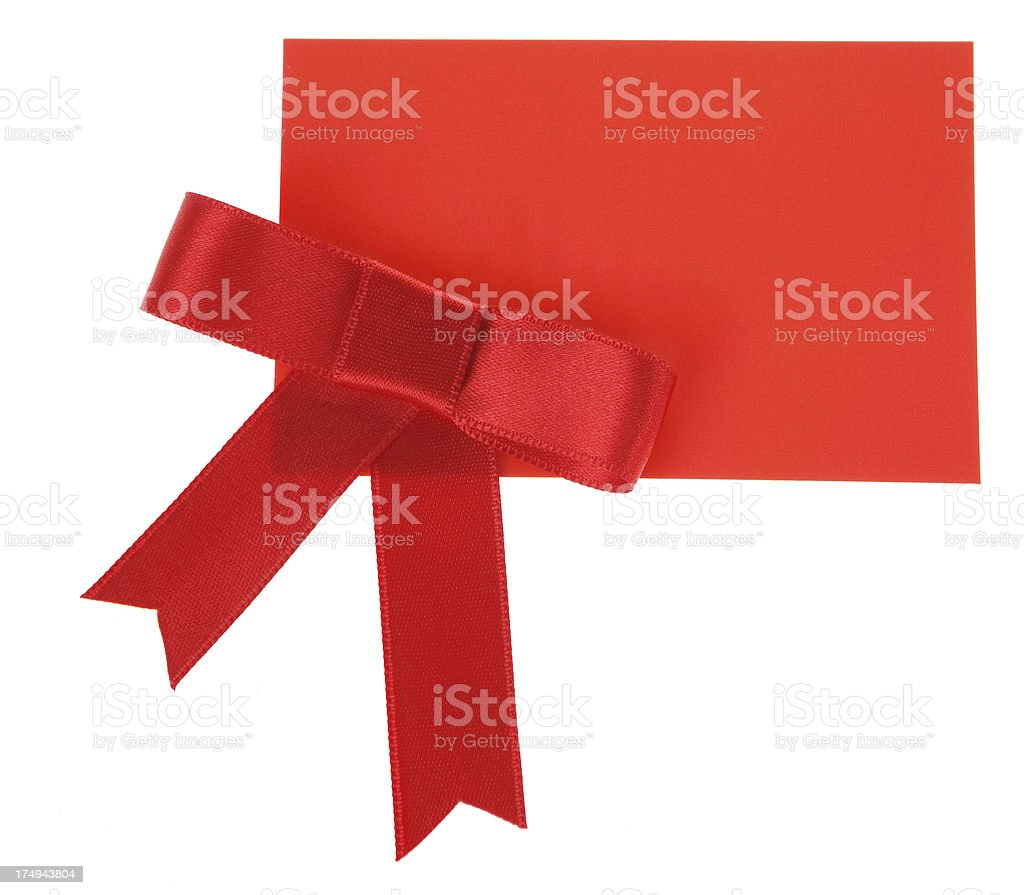 Red Card with bow royalty-free stock photo