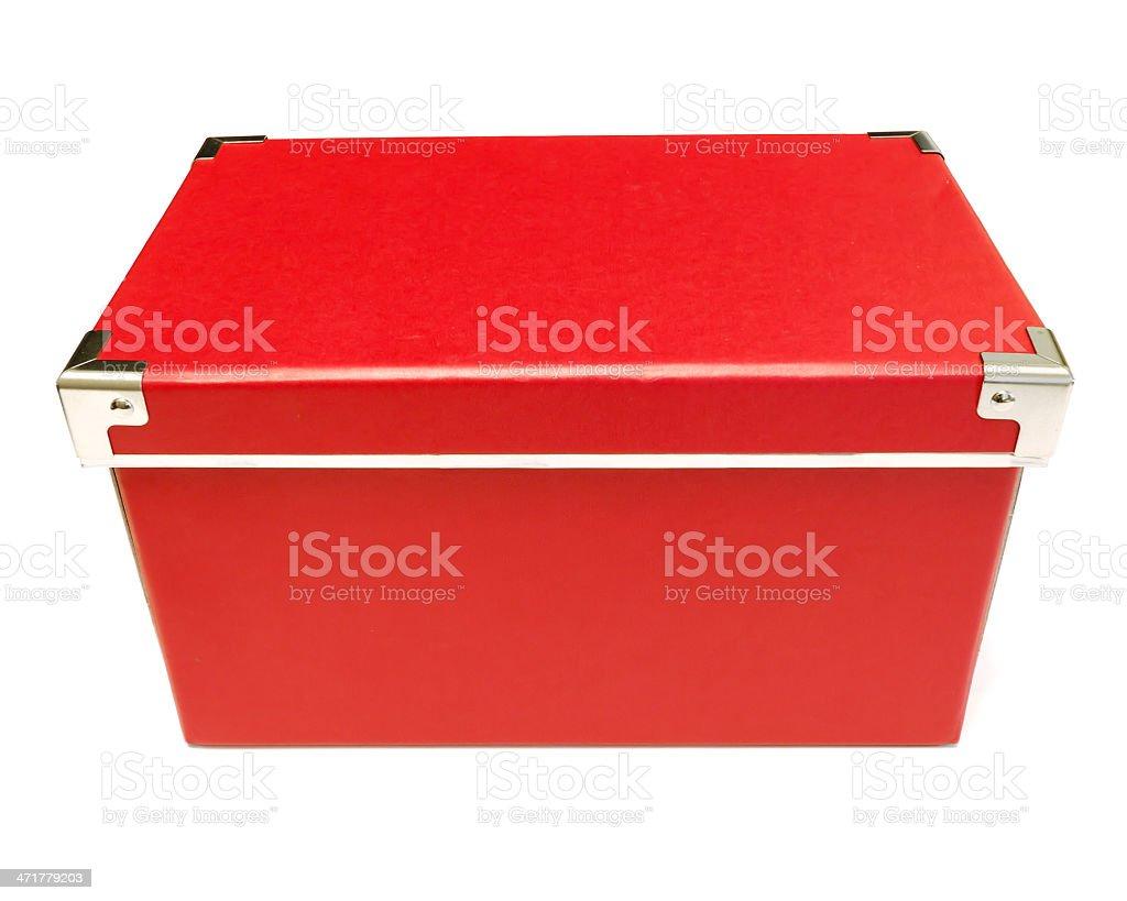 Red Cardboard Box royalty-free stock photo