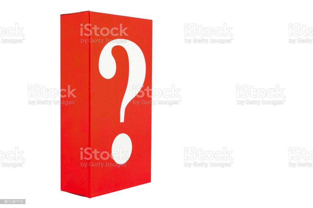 red cardboard box stock photo