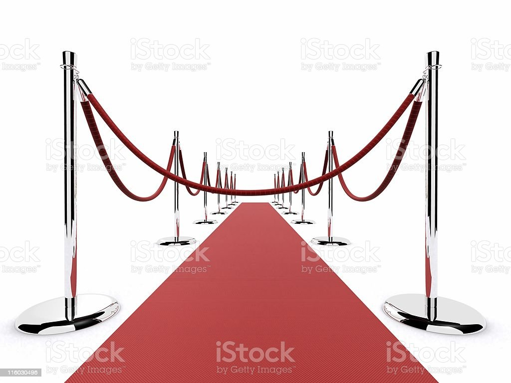 red carpet barrier royalty-free stock photo