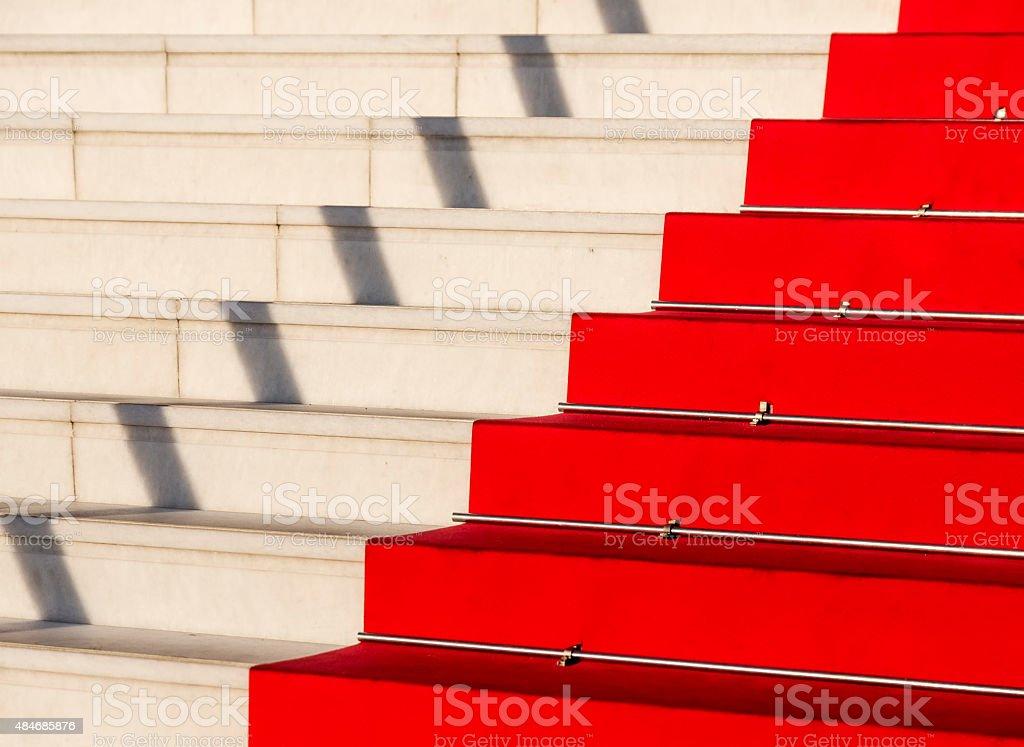 Red carpet, Cannes, Costa Azzurra, Francia stock photo