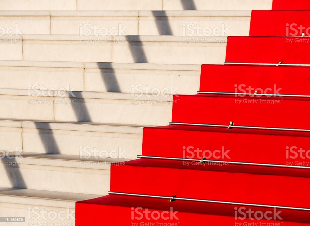 Red carpet, Cannes, Costa Azzurra, Francia stock photo