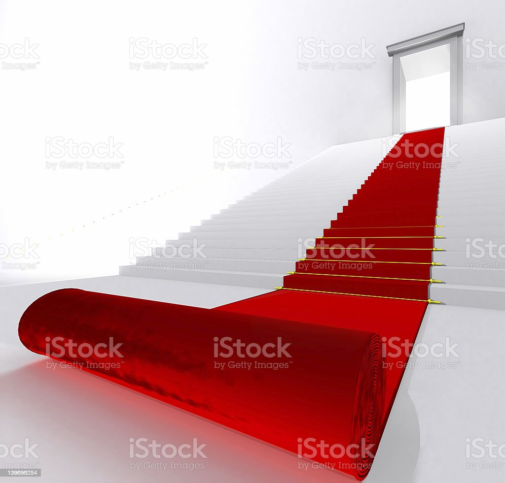 Red Carpet - Enter Here royalty-free stock photo