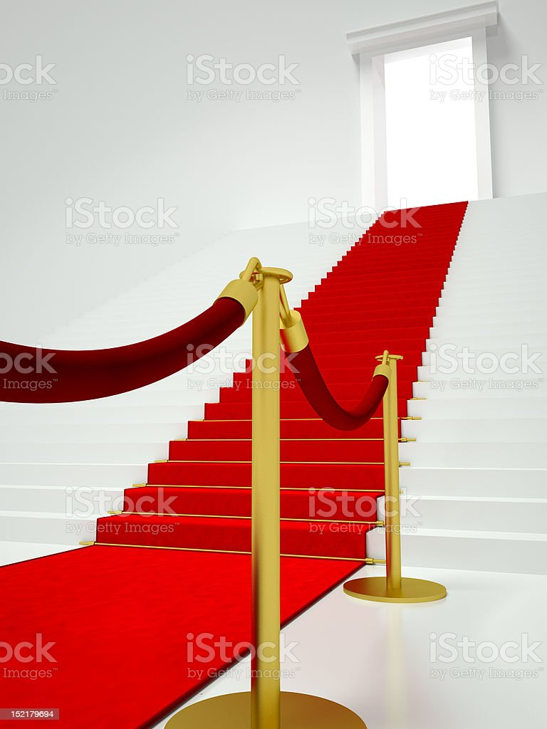 Red Carpet Entrance royalty-free stock photo