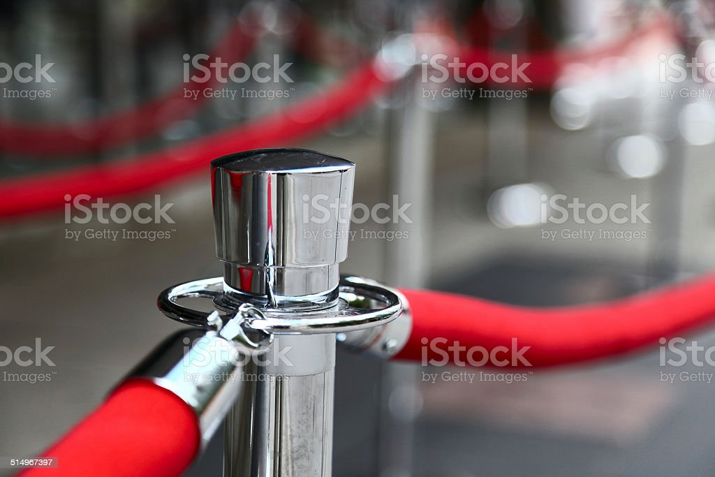 Red Carpet Fence stock photo