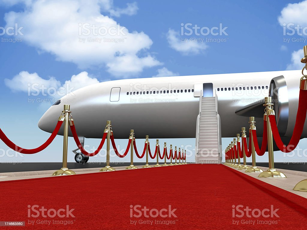 Red carpet for the guest stock photo