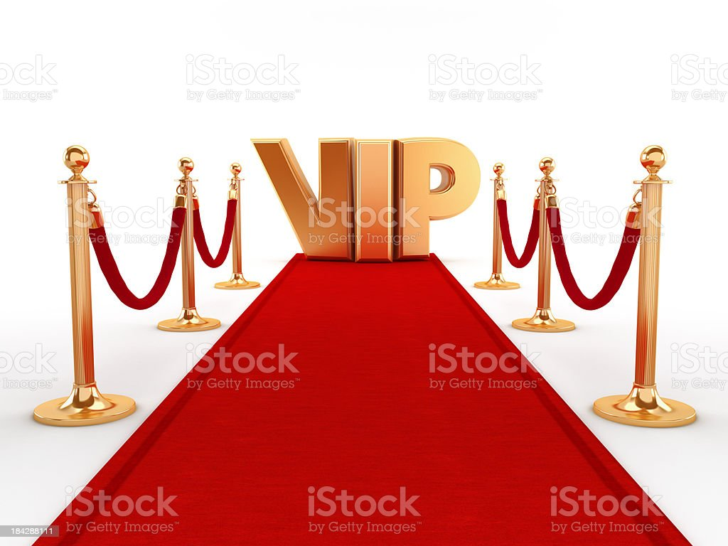 Red carpet for VIP stock photo