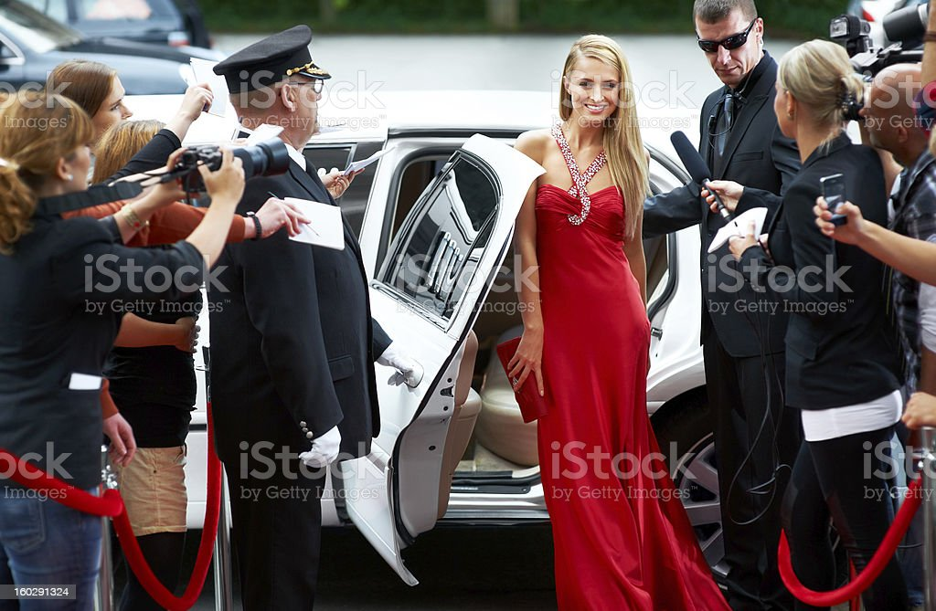 Red carpet glamour stock photo