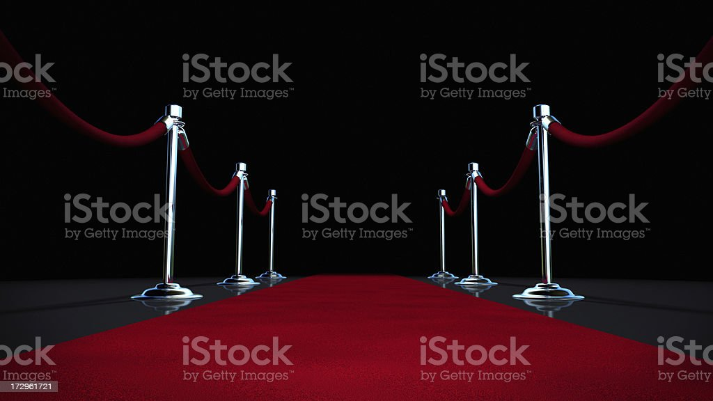 Red Carpet on Black stock photo
