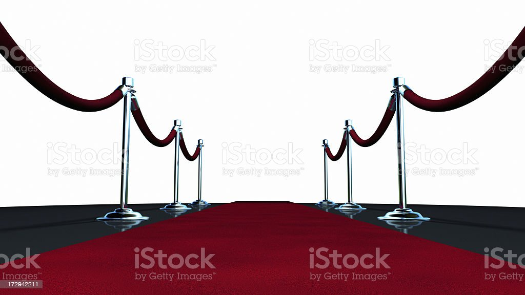 Red Carpet On White stock photo