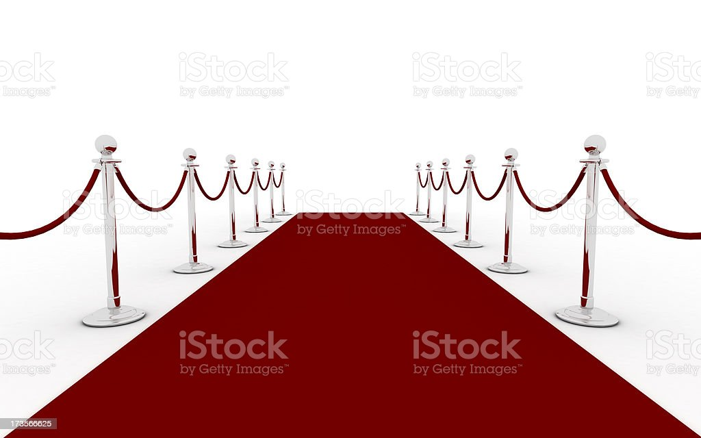 Red carpet (silver) stock photo