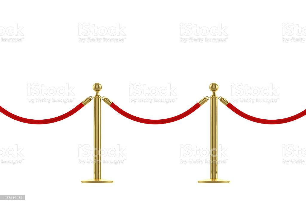 VIP red carpet rope stock photo