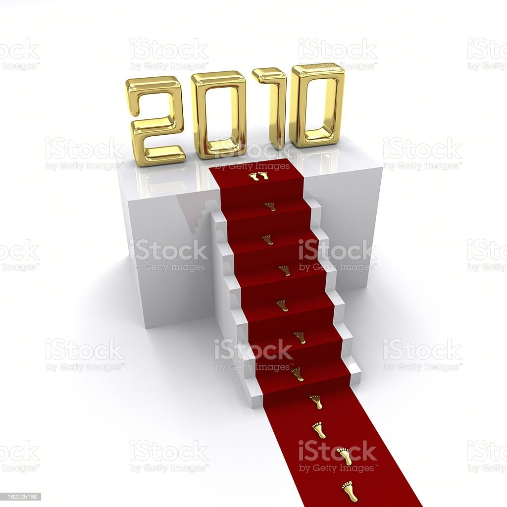 Red Carpet To 2010 royalty-free stock photo