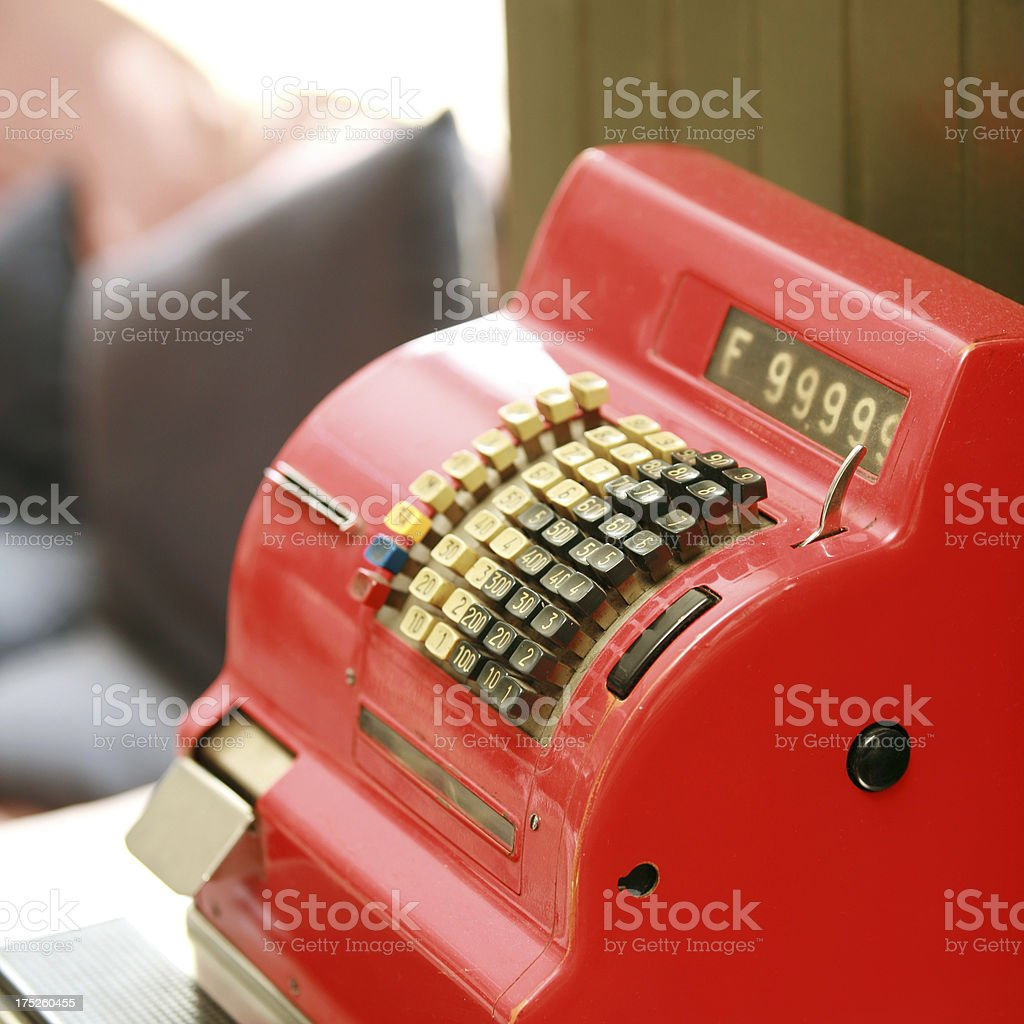 Red Cash Register royalty-free stock photo