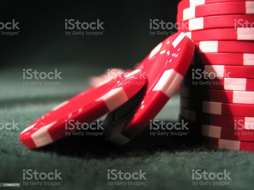 red casino chips royalty-free stock photo