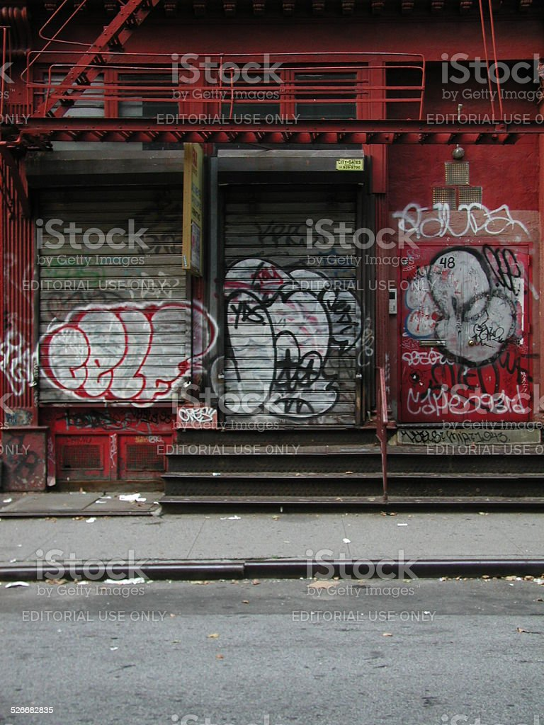 Red Castiron Loft Building 48 Howard Street 2002 NYC stock photo