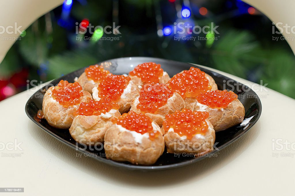 Red Caviar Appetizers royalty-free stock photo