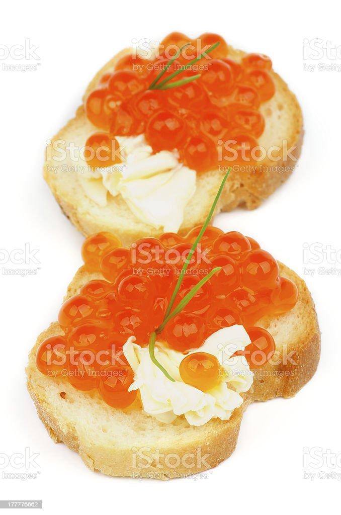Red Caviar Snacks royalty-free stock photo