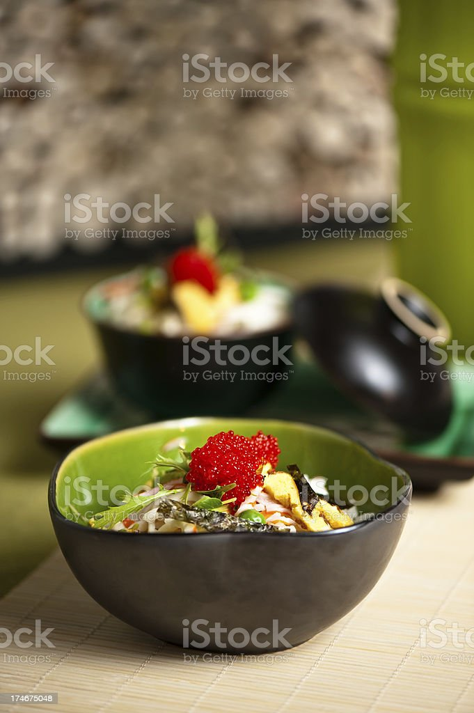 Red caviar sushi royalty-free stock photo