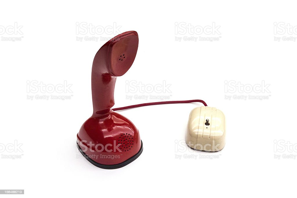 Red Central battery automatic telephone royalty-free stock photo