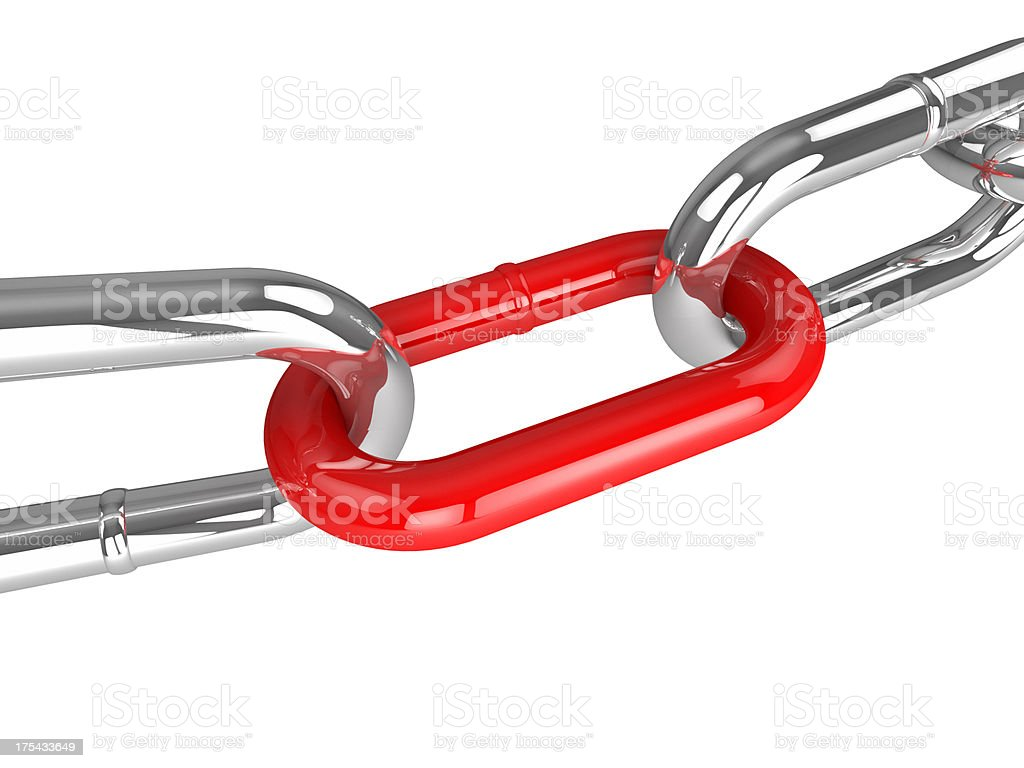 Red Chain Link royalty-free stock photo