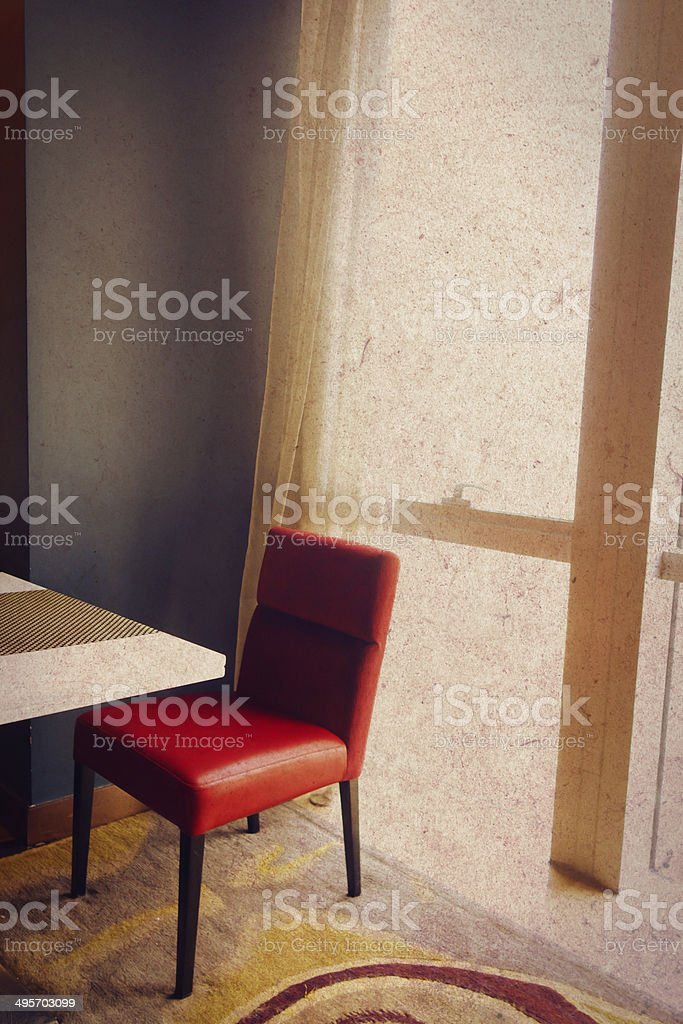red chair in room royalty-free stock photo