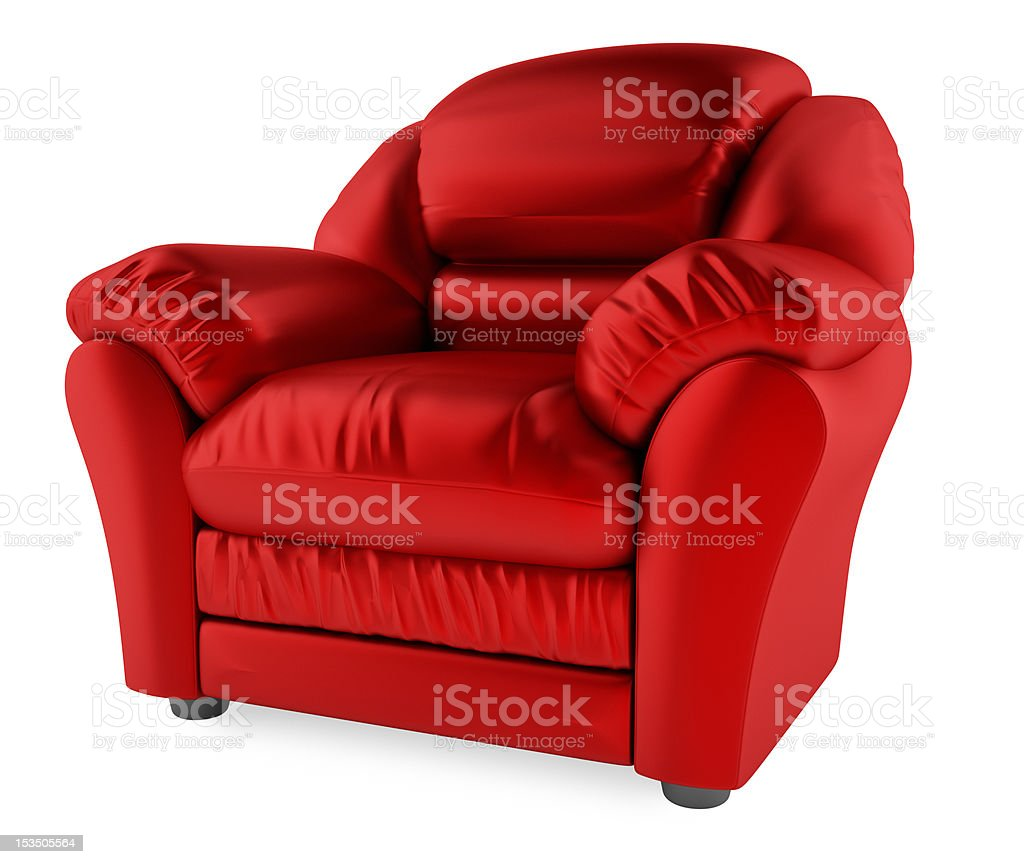 Red chair on a white background royalty-free stock photo