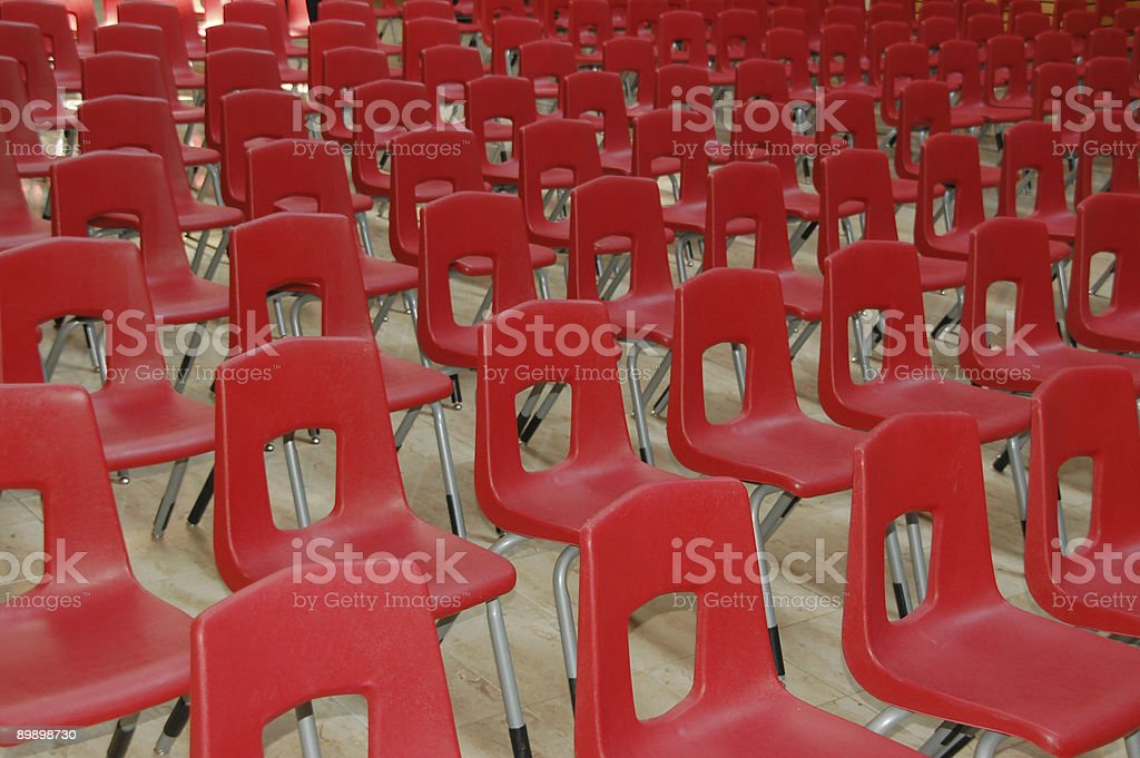 Red chairs arrangement royalty-free stock photo