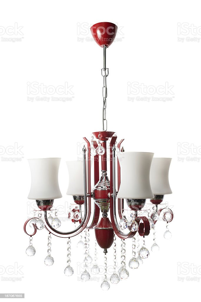Red Chandalier stock photo