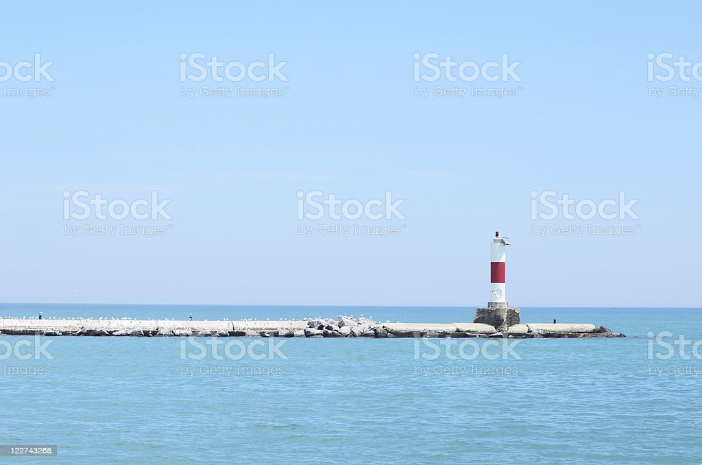 Red Channel Marker stock photo