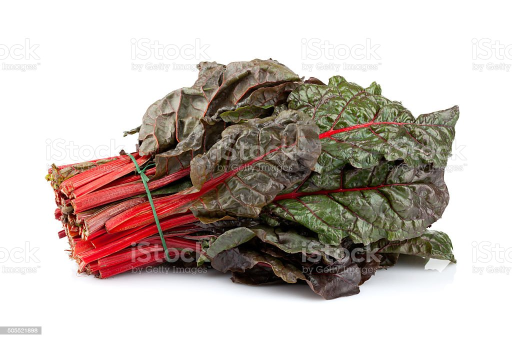 Red Chard Bunch stock photo