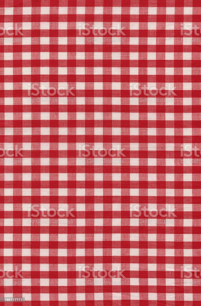 red check fabric stock photo