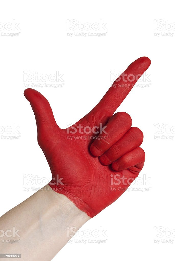 red check gesture royalty-free stock photo
