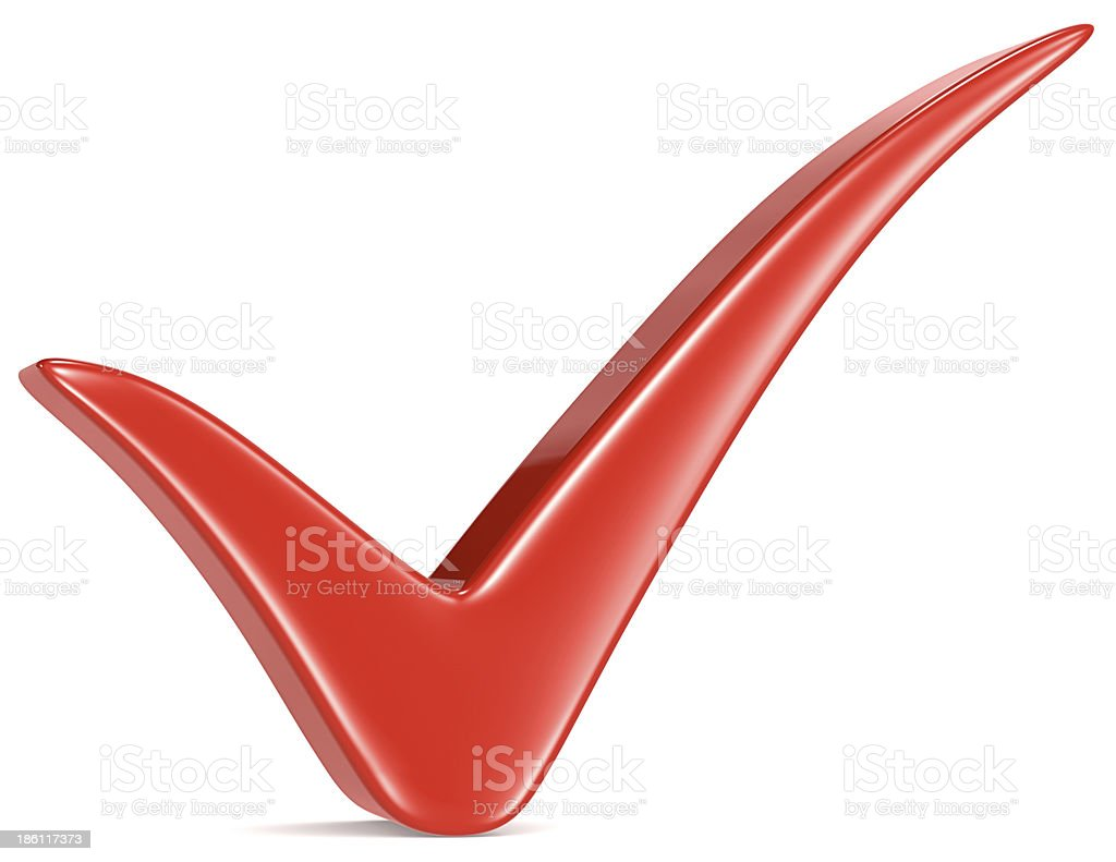Red Check Mark. royalty-free stock photo